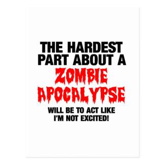 Diseño fresco del zombi tarjetas postales