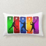 Diseño fresco estupendo del deporte del tenis (var almohadas