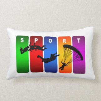 Diseño fresco estupendo del deporte que se lanza cojín