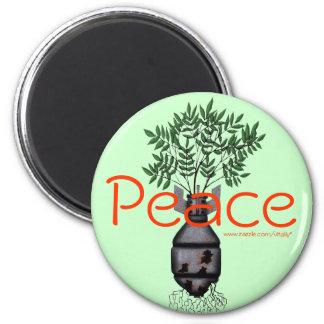 Diseño fresco pacifista del imán de la bomba de la