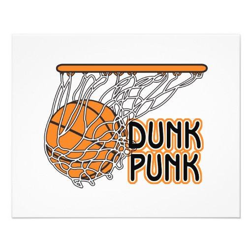 diseño fresco punky del baloncesto de la clavada tarjetas informativas