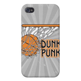 diseño fresco punky del baloncesto de la clavada iPhone 4/4S carcasas