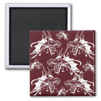 Diseño fresco rojo de la fantasía de la criatura m iman de frigorífico