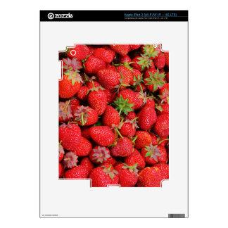 Diseño fresco rojo de las fresas iPad 3 pegatina skin
