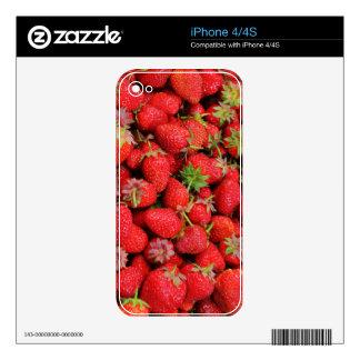 Diseño fresco rojo de las fresas skins para eliPhone 4