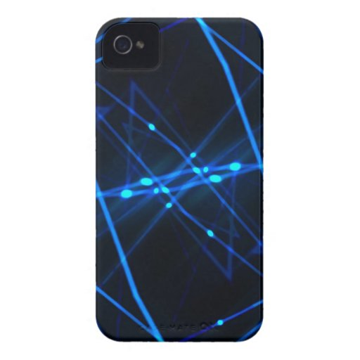 Diseño futurista abstracto Case-Mate iPhone 4 protectores