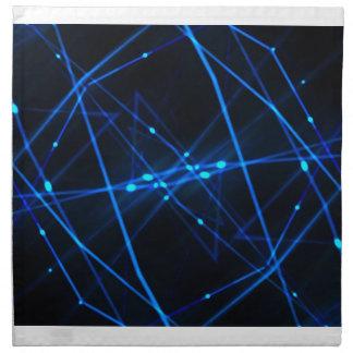 Diseño futurista abstracto servilleta imprimida