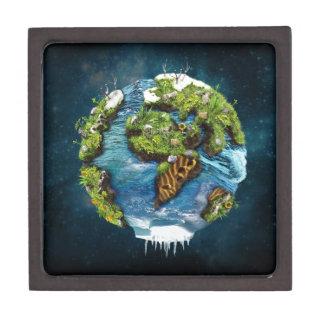 Diseño futuro fresco del globo de la tierra del caja de recuerdo de calidad