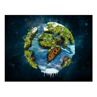 Diseño futuro fresco del globo de la tierra del postales