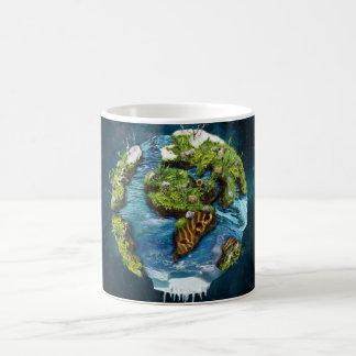 Diseño futuro fresco del globo de la tierra del taza