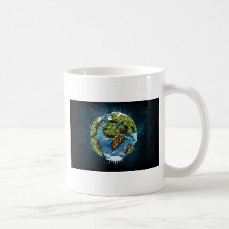 Diseño futuro fresco del globo de la tierra del taza clásica