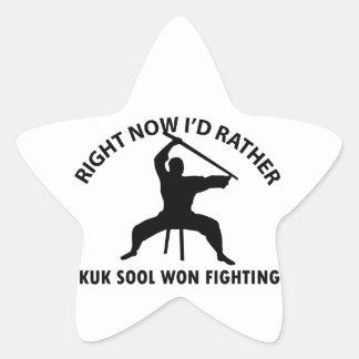 diseño ganado sool del kuk pegatina en forma de estrella