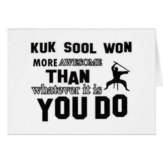 diseño ganado sool del kuk tarjeta de felicitación