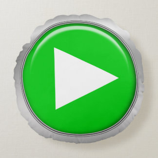 diseño geeky de los botones de reproducción cojín redondo