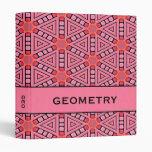 """Diseño geométrico 1"""" del caleidoscopio rosado carp"""
