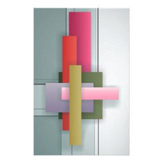Diseño geométrico abstracto del art déco papelería de diseño