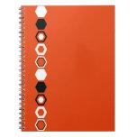 Diseño geométrico anaranjado del arte abstracto libros de apuntes