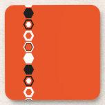 Diseño geométrico anaranjado del arte abstracto posavasos de bebidas