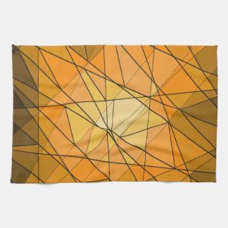 Diseño geométrico anaranjado del diamante de la toalla de cocina