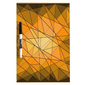 Diseño geométrico anaranjado del diamante de la pizarras blancas