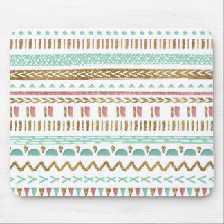 Diseño geométrico azteca tribal de la pintura tapetes de raton