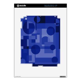 Diseño geométrico azul calcomanías para iPad 2