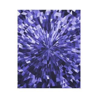 Diseño geométrico azul del círculo y del triángulo impresion de lienzo