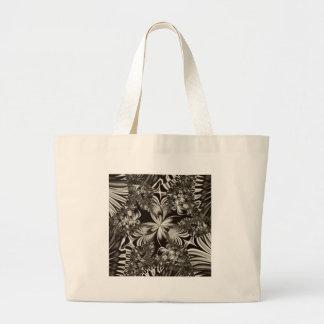 diseño geométrico blanco y negro bolsa de mano