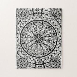 Diseño geométrico blanco y negro rompecabezas
