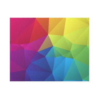 diseño geométrico colorido abstracto del polígono impresiones en lienzo estiradas