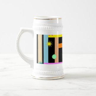 Diseño geométrico colorido del modelo de las forma tazas