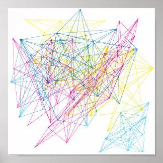 diseño geométrico colorido impresiones