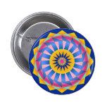 Diseño geométrico colorido Roundel Pin