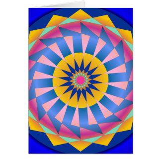 Diseño geométrico colorido Roundel Tarjeta De Felicitación