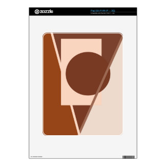 Diseño geométrico de Brown por Moma Calcomanía Para iPad