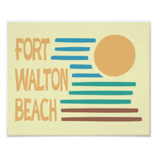 Diseño geométrico de Fort Walton Beach Poster