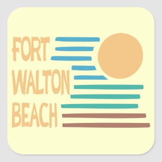 Diseño geométrico de Fort Walton Beach Pegatina Cuadrada