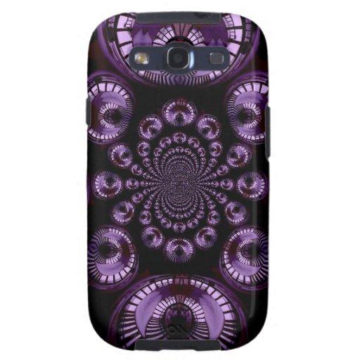 Diseño geométrico de Fractual del infinito púrpura Galaxy SIII Coberturas