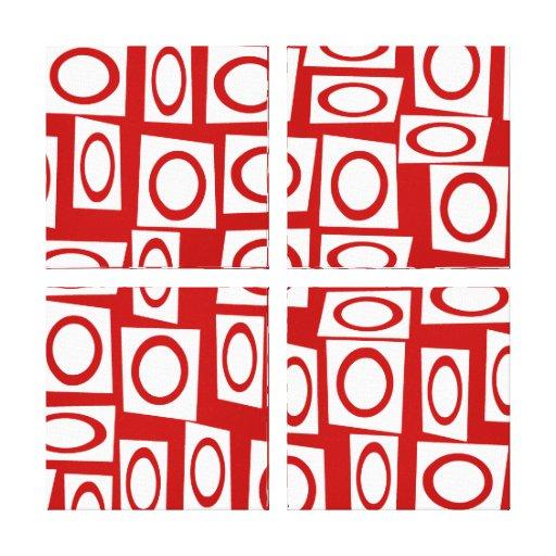 Diseño geométrico de la diversión del cuadrado bla impresiones en lienzo estiradas