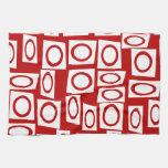 Diseño geométrico de la diversión del cuadrado bla toalla de mano