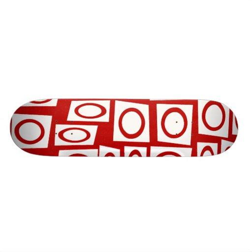 Diseño geométrico de la diversión del cuadrado bla patineta personalizada