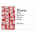 Diseño geométrico de la diversión del cuadrado bla plantilla de tarjeta personal