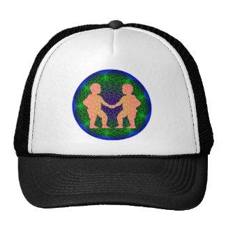 Diseño geométrico de los géminis gorras de camionero