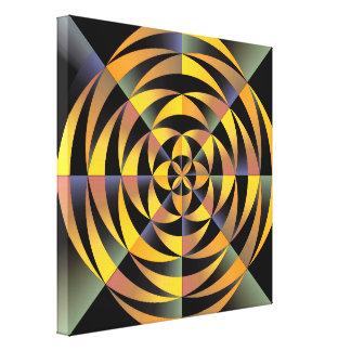 Diseño geométrico de Tigerlike Lona Envuelta Para Galerias