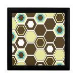Diseño geométrico del arte abstracto cajas de recuerdo