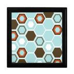 Diseño geométrico del arte abstracto cajas de joyas