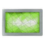 Diseño geométrico del diamante de la piedra hebillas cinturón rectangulares