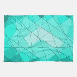 Diseño geométrico del diamante de la piedra toallas