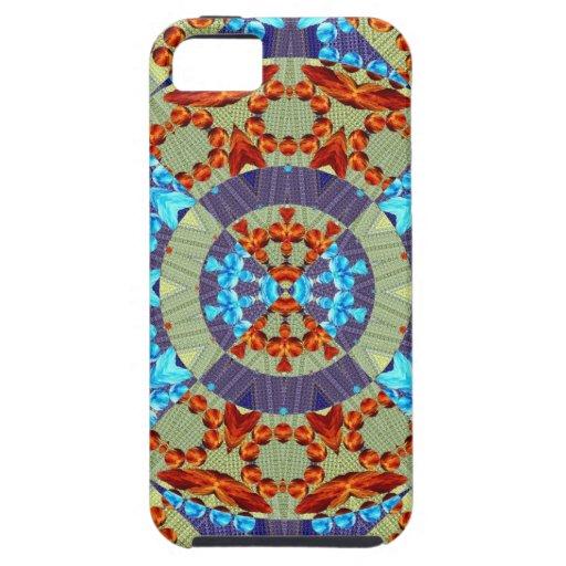 Diseño geométrico del fractal del fuego y del hiel iPhone 5 Case-Mate cárcasa