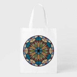 diseño geométrico del modelo del vitral moderno bolsas para la compra